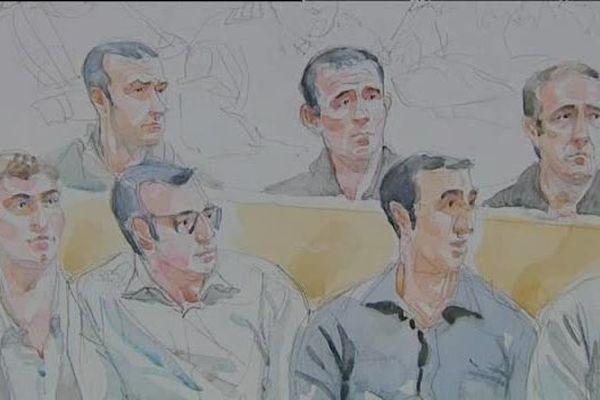 Guy Orsoni et ses 11 co-accusés comparaîssent devant la courd'assises des Bouches du Rhône pour deux assassinats et une tentative.