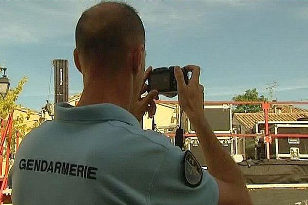 Castries (Hérault) - la gendarmerie enquête après l'accident lors de l'encierro - 12 août 2016.