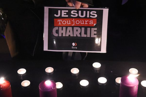 Les commémorations après l'attentat à Charlie Hebdo en janvier 2015.