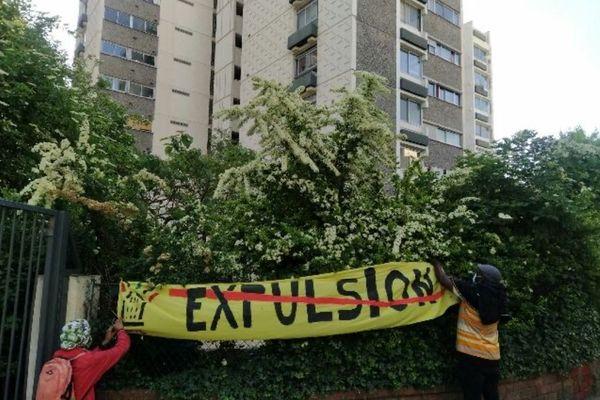 Action du DAL menée le 2 juin contre l'expulsion d'une famille à Bagnolet, rue Edouard Vaillant (illustration).