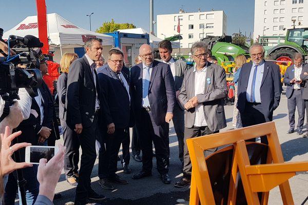 Le ministre de l'Agriculture Stéphane Travert était en déplacement à la Foire de Châlons ce samedi