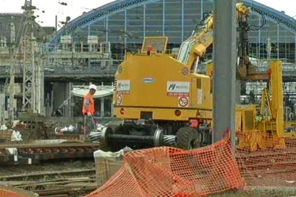 Début des travaux de modernisation des voies en gare de Bordeaux St Jean