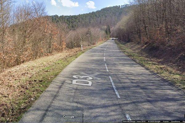 Un mort dans un accident de la route sur cette départementale située entre Wissembourg et Climbach