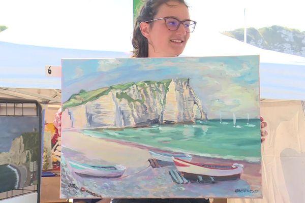 Voici un des 105 tableaux mis en vente ce dimanche 28 juillet à Etretat.