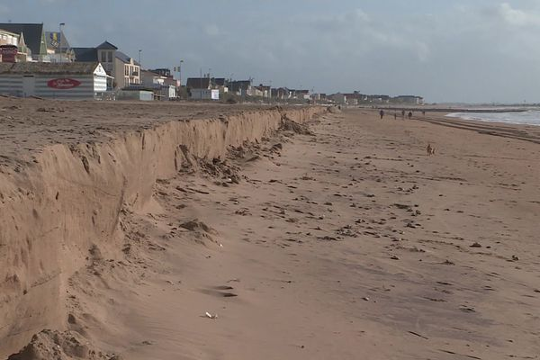 La plage de Châtelaillon après la tempête.