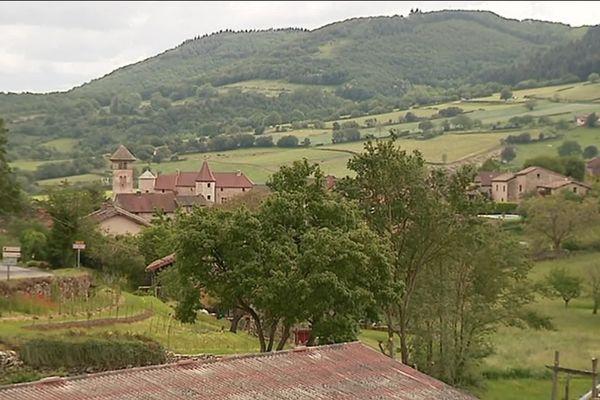 La commune de Blanot, en Saône-et-Loire.
