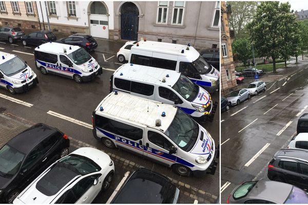 La police bloque la rue Lauth