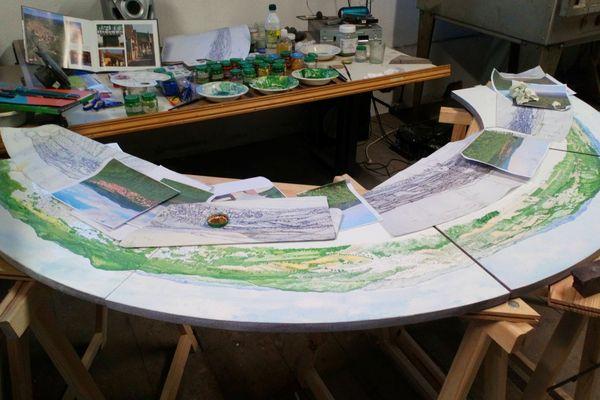 Une table d'orientation en émaillage sur lave pour le village de Rosenwiller