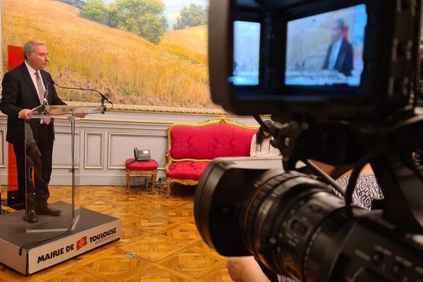 Jean Luc Moudenc annonce sa victoire au Capitole