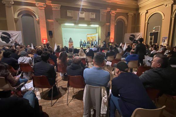 Le candidat indépendantiste aux élections municipales de Bastia, Éric Simoni, a présenté sa liste « Pè Bastia », jeudi 13 février.