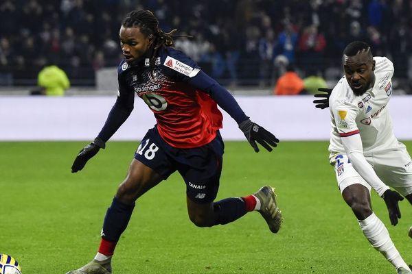 Le joueur lillois Renato Sanches, ici contre Lyon, aurait notamment été insulté.