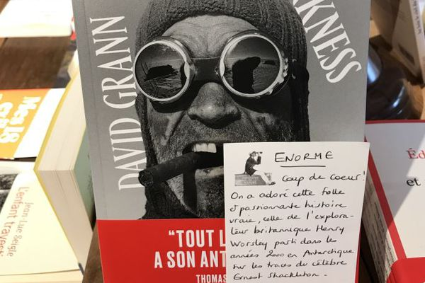 The white Darkness de David Grann, coup de coeur de la libraire Mélanie Chenais.