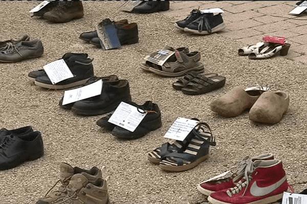 Des chaussures pour faire connaître le syndrome de fatigue chronique