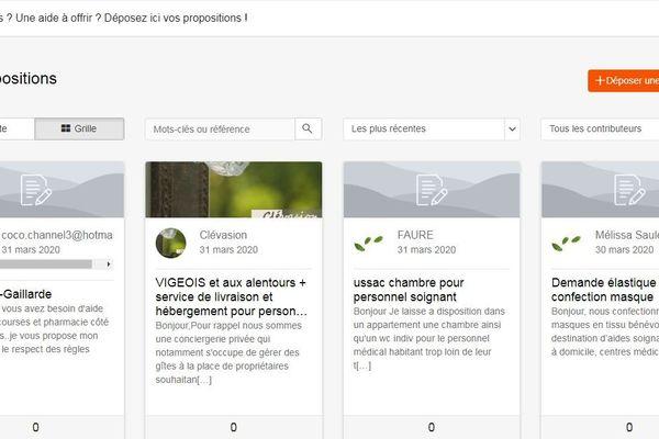 De nombreux services sont proposés sur www.entraide-correze.fr