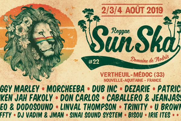 Les artistes de la 22ème édition du Reggae Sun Ska