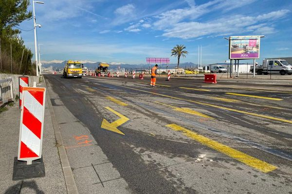 Le département poursuit les travaux de la chaussée sud du giratoire ainsi que ceux de la piste cyclable à double sens.