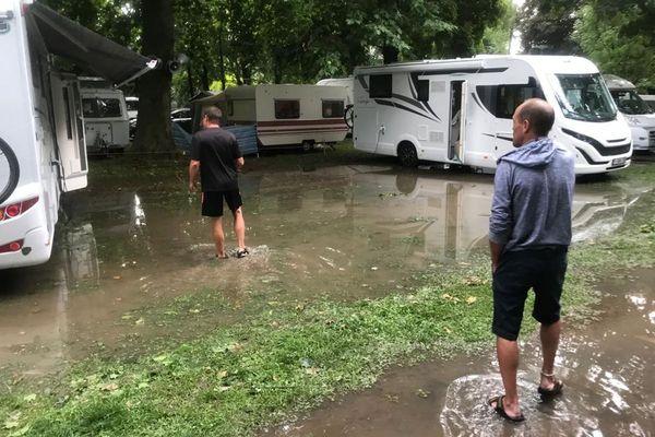 A Aiguilhe, le camping a été inondé