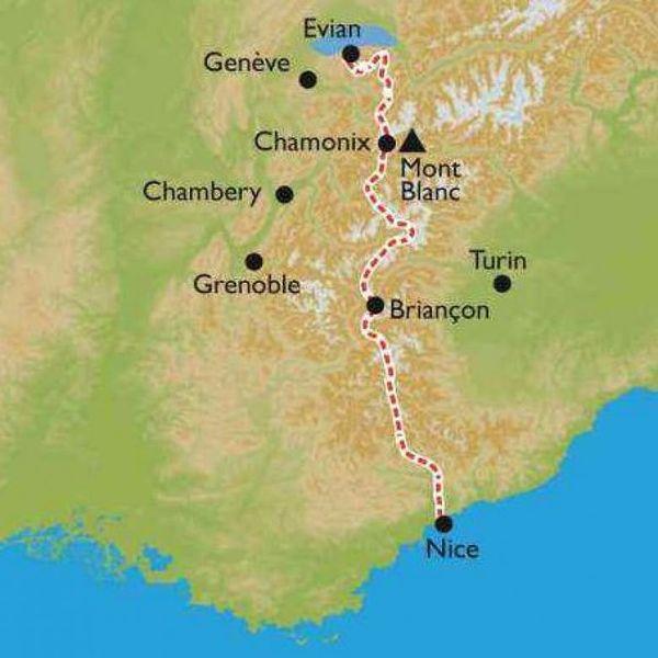 Romain Sophys a traversé les Alpes de Thonon-les-Bains (Haute-Savoie) à Nice.