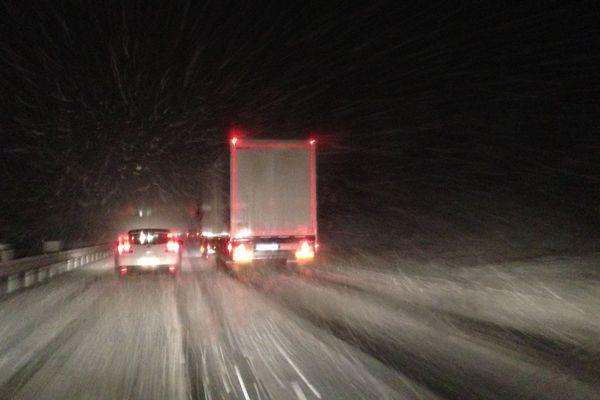 Episode de neige sur les routes