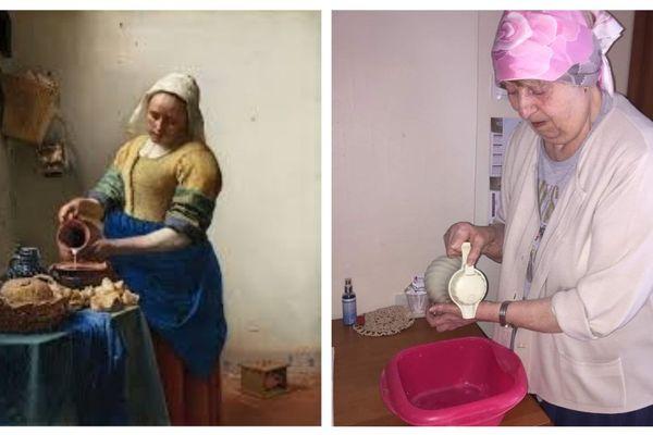 La laitière de Vermeer et l'interprétation d'une résidente de l'Ehpad