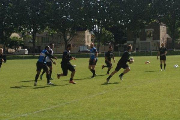 Les joueurs du CA Brive à l'entraînement le 21 mai 2015