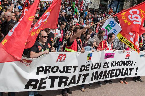 Une manifestation contre la loi Travail, le 26 mai dernier à Lyon