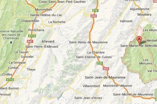 Carte Saint-Martin-de-Belleville