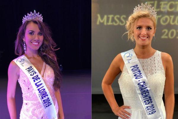 Toutes deux Vendéenness, Yvana Cartaud et Andrea Galland, concourent pour le titre de Miss France 2020