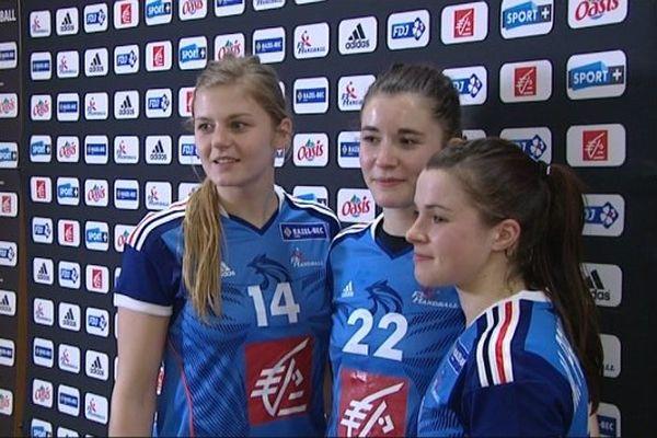 Moretto, François et Prouvensier, trois joueuses du CDB en Equipe de France