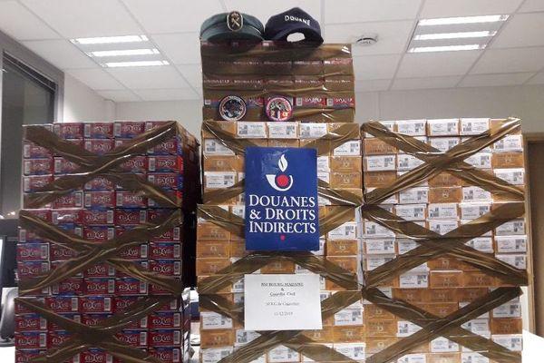 Perpignan - 864 cartouches de cigarettes ont été saisies par les douanes de Cerdagne - 16.12.19