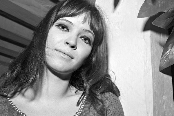 Portrait de l'actrice Anna Karina réalisé en avril 1966.