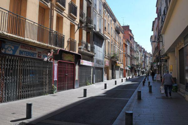 Le centre ville de Perpignan