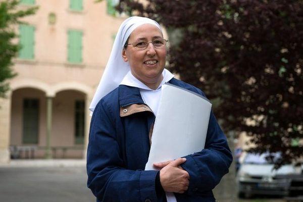 """Marie Simon-Pierre a guéri de la maladie de Parkinson, un """"miracle"""" que, selon elle, elle doit à Jean-Paul II."""