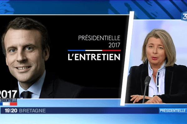 Corinne Erhel, députée de la 5ième circonscription des Côtes d'Armor, a défendu dans le 19/20 de France 3 Bretagne le programme d'Emmanuel Macron, candidat à l'élection présidentielle.