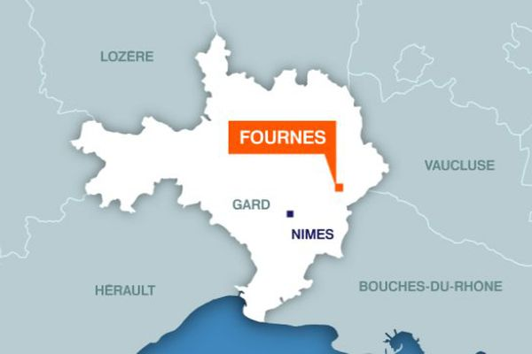 Carte Fournès (Gard)