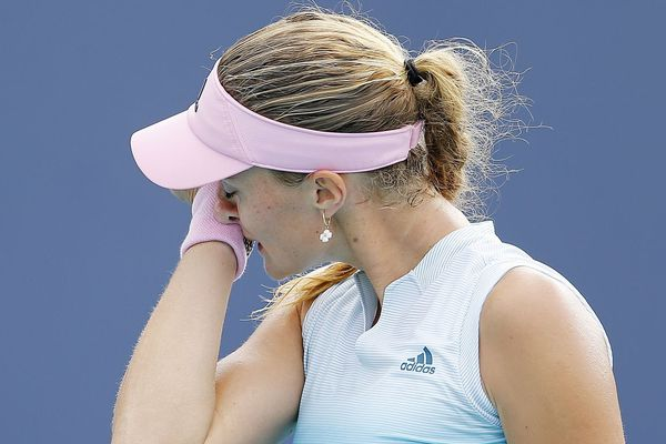 Kristina Mladenovic, le 21 mars à Miami.