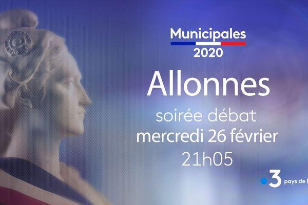 Mercredi 26 février, débat avant les Muncipales de mars prochain à Allonnes, près du Mans