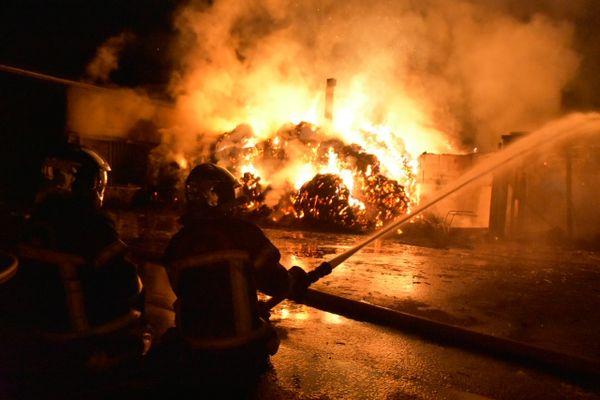 Intervention des sapeurs pompiers au haras de la Vaillantière à La Chapelle-sur-Erdre