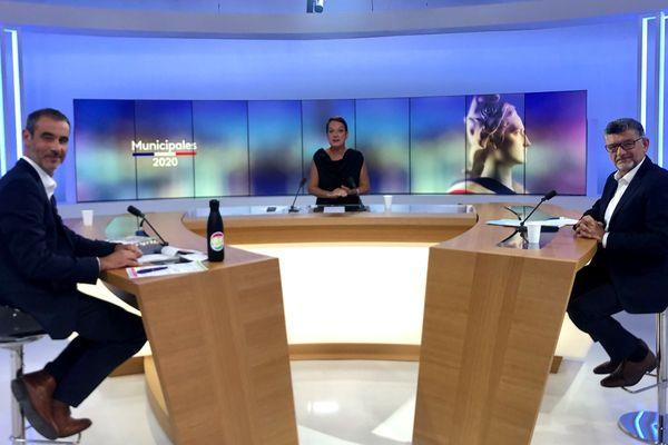 Stéphane Ibarra et Luc Bouard ont débattu sur le plateau de France 3 Pays de la Loire ce 23 juin autour de Christine Vilvoisin.