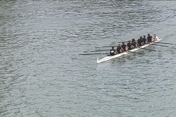 Régate d'aviron sur la Seine à Rouen