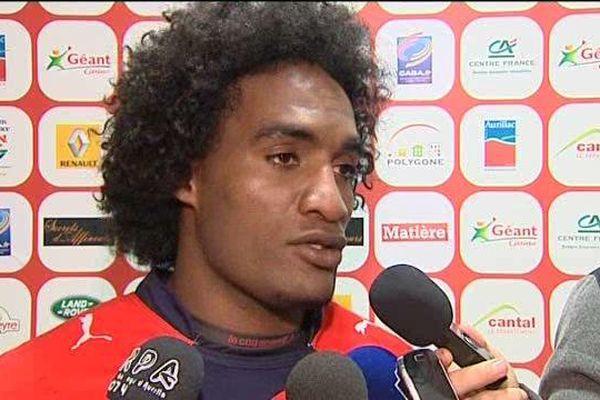 L'Aurillacois, Albert Valentin a marqué son quatrième essai de la saison, samedi 7 novembre, face à Dax.