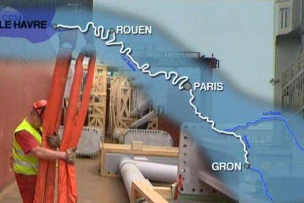 Le port de Gron à Sens.