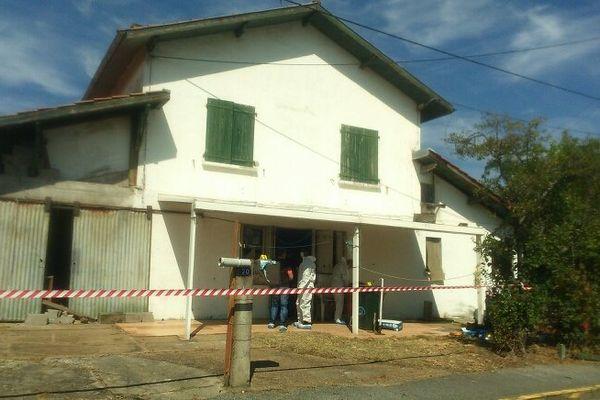 La maison où a eu lieu le drame, avenue des Pyrénées à Anglet.