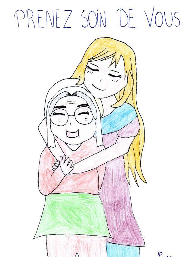 Des enfants ont envoyé des dessins aux résidents d'Ephads