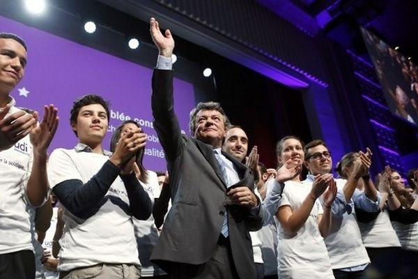 Jean-Louis Borloo, président de l'Union des démocrates et indépendants (UDI) a tenu dimanche à Paris son assemblée constituante.