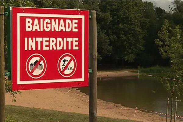 Baignade interdite au lac de Maine à Angers