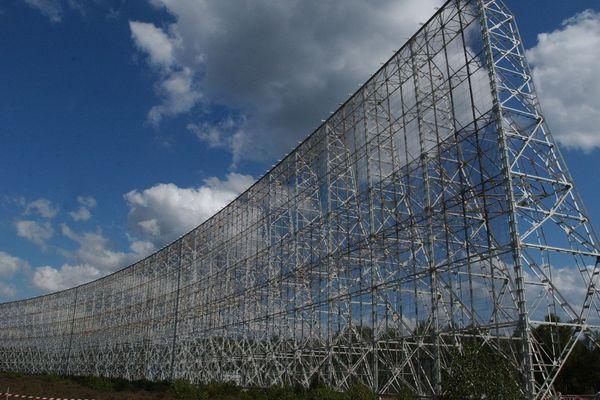 Le radiotélescope de Nançay, dans le Cher