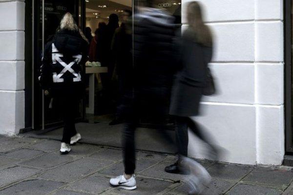 L'entrée de la boutique Colette, le 16 décembre 2017 à Paris