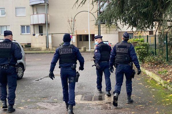 Opération de police dans le quartier des Grésilles ce 17 décembre