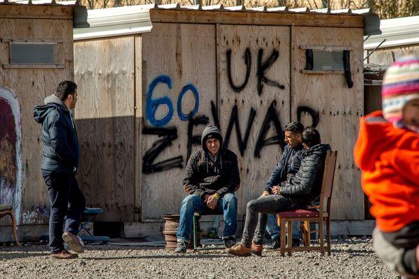 Le camp de migrants de la Linière à Grande-Synthe.